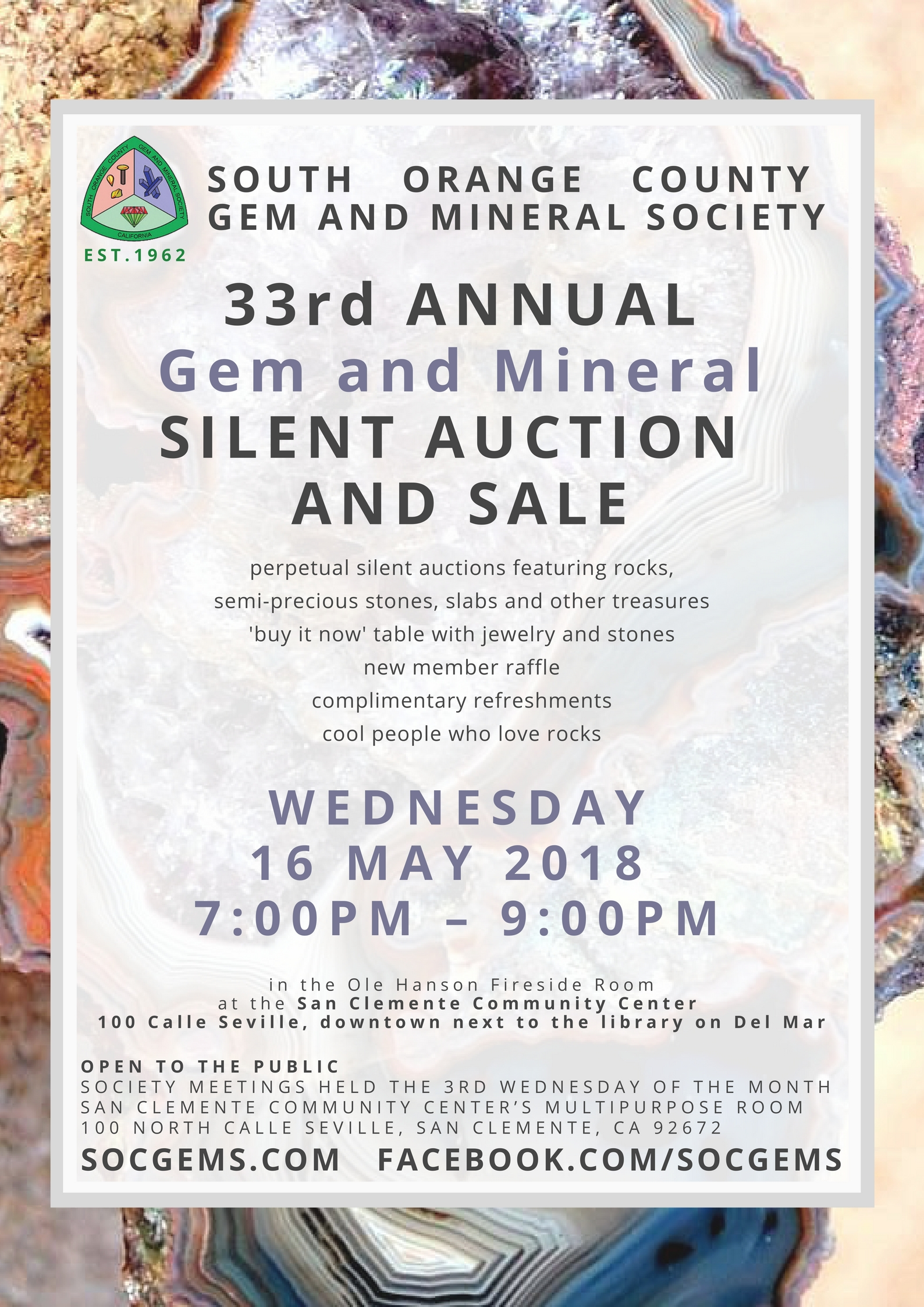 gem and mineral silent auction