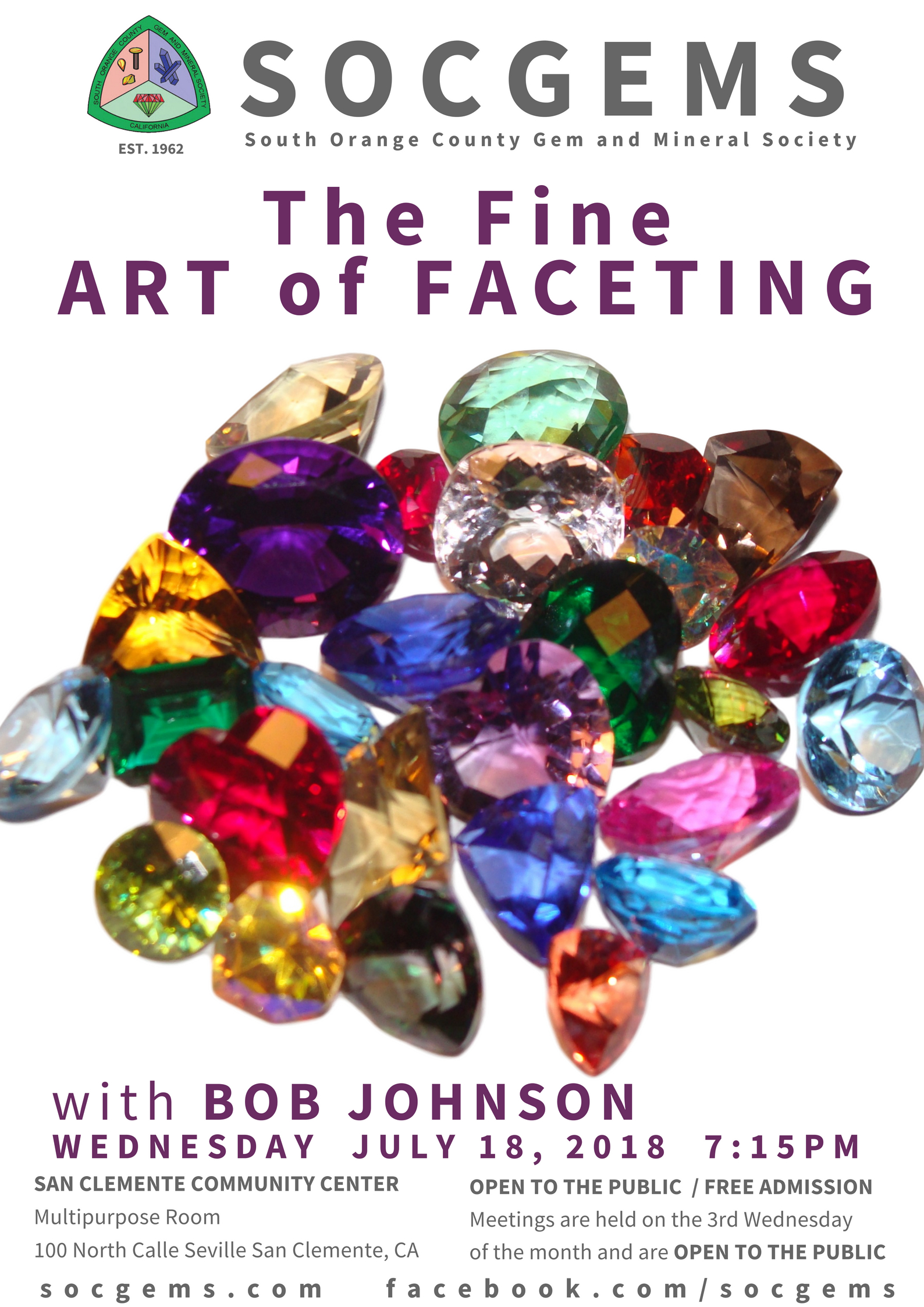 bob johnson july 2018 socgems faceting