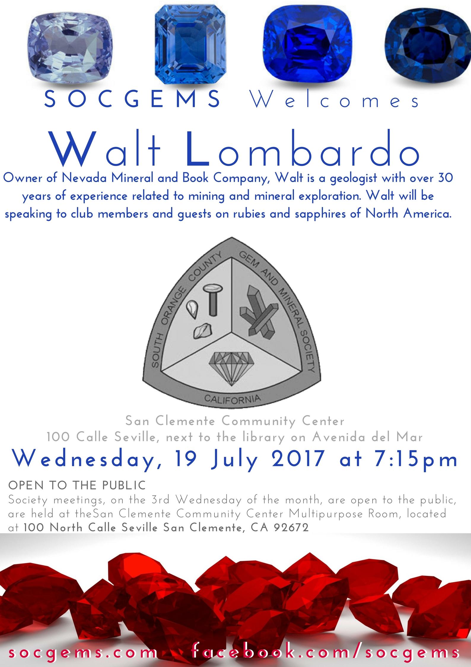 WALT LOMBARDO socgems speaker