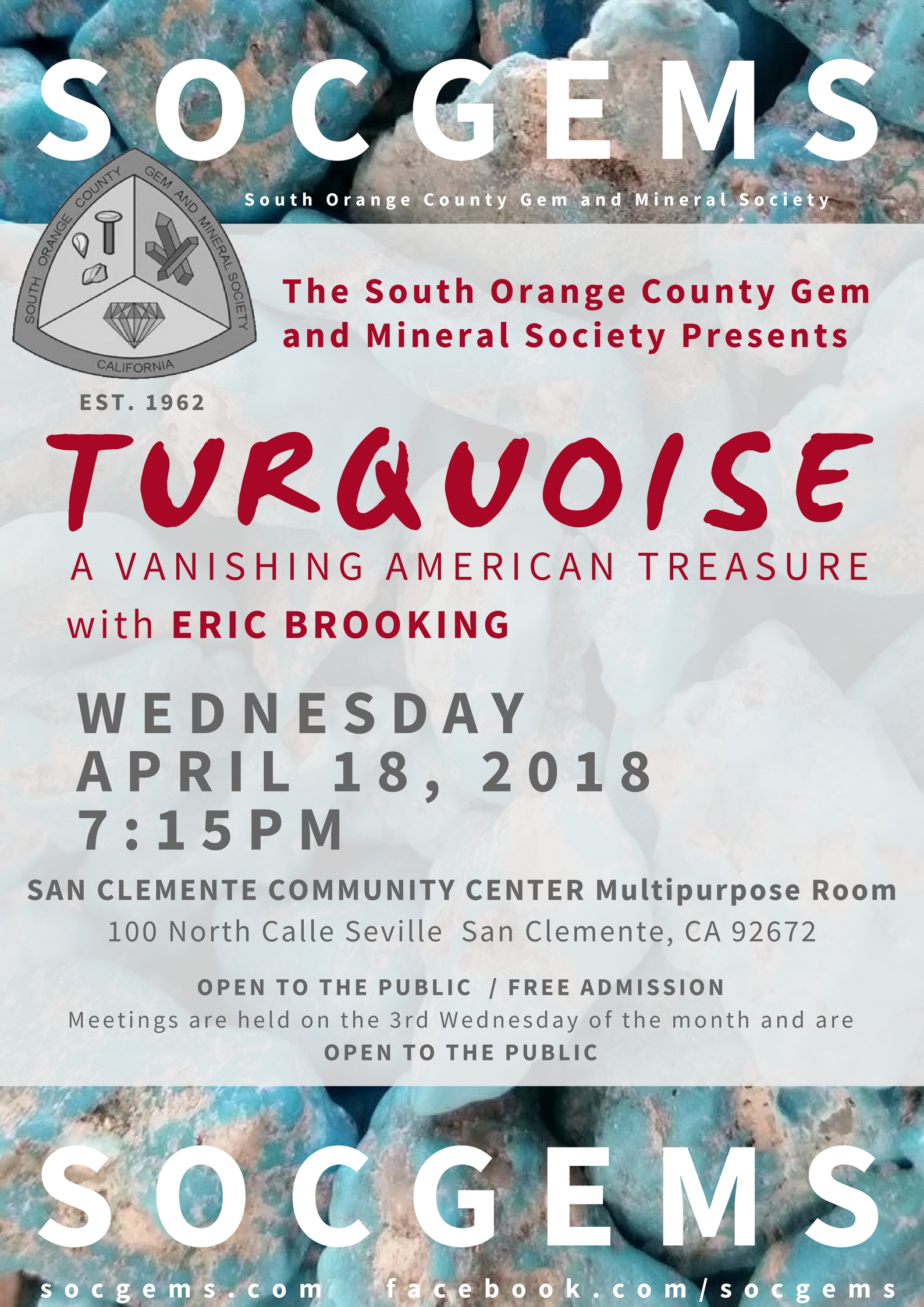 eric brooking turquoise april 2018