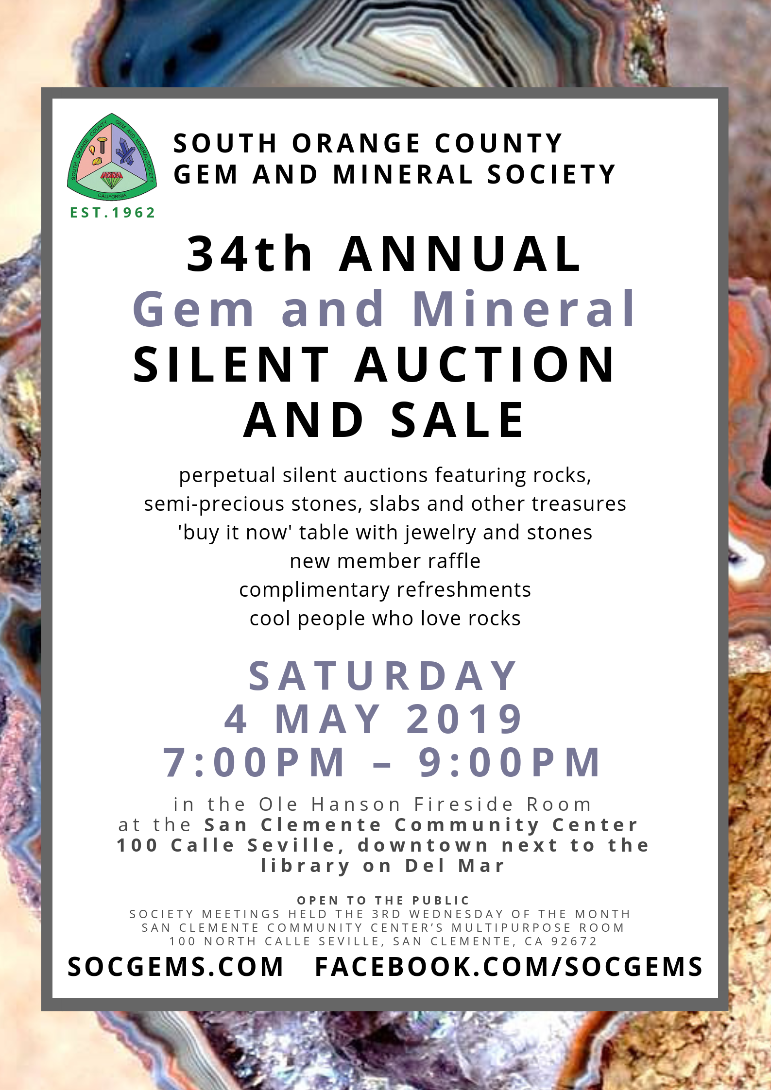 SOCGEMS annual silent auction