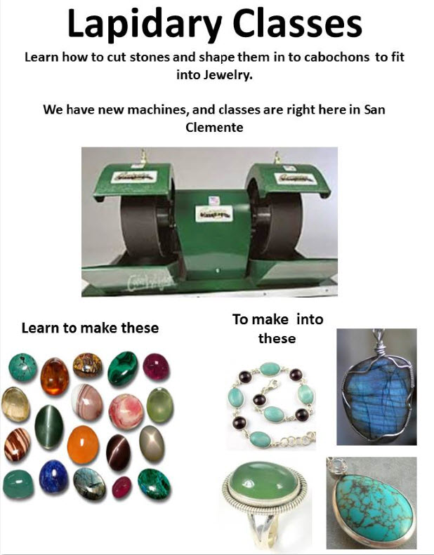 lapidary class poster