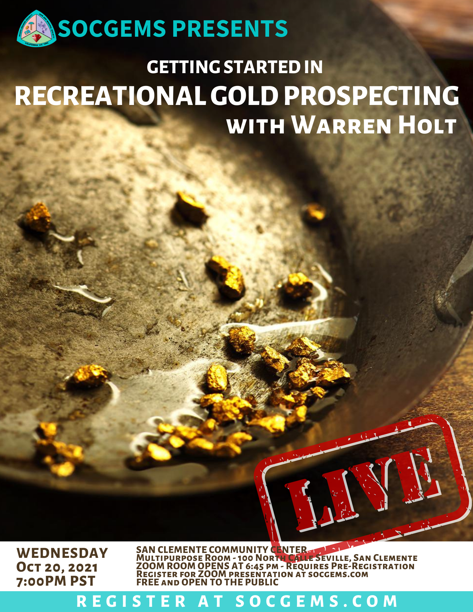 recreational gold prospectin